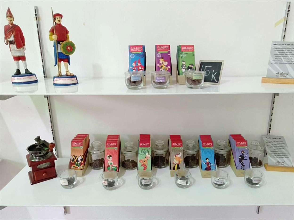 インドネシア各地のコーヒー味のチョコレート Cokelat nDalem
